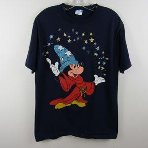 Vintage Disney Fantasia Wizard Mickey Shirt- Large